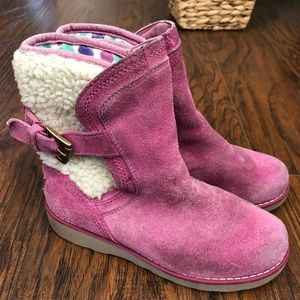 Ugg Suede Pink Boots 13